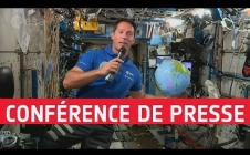 Press conference of Thomas Pesquet from the ISS (in French)