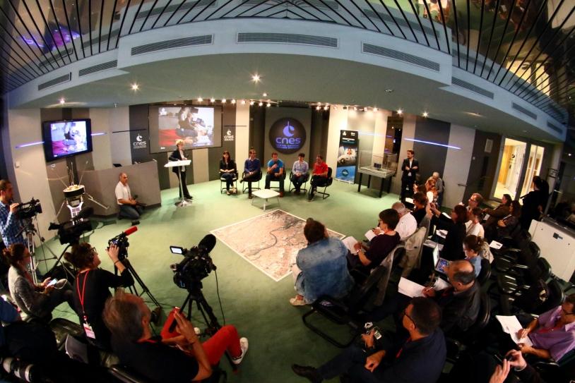 Conférence de presse post-tour Thomas Pesquet